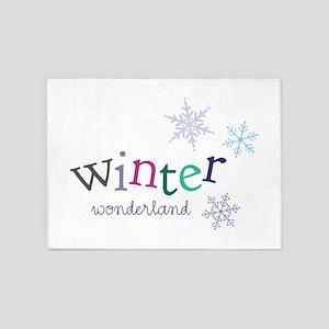 Winter Wonderland 5'x7'Area Rug