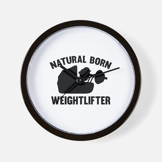 Natural Born Weightlifter Wall Clock