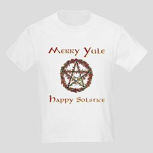 Merry Yule burgundy 2 Kids Light T-Shirt