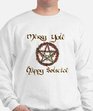 Merry Yule burgundy 1 Sweatshirt