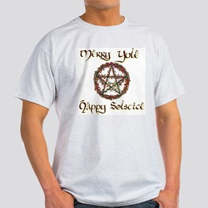 Merry Yule burgundy 1 Light T-Shirt