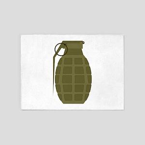 Military Grenade 5'x7'Area Rug