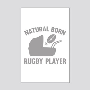 Natural Born Rugby Player Mini Poster Print