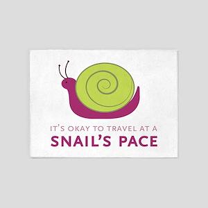 Snails Pace 5'x7'Area Rug