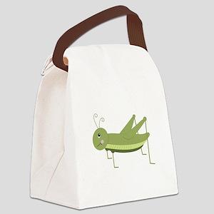 Green Grasshopper Canvas Lunch Bag