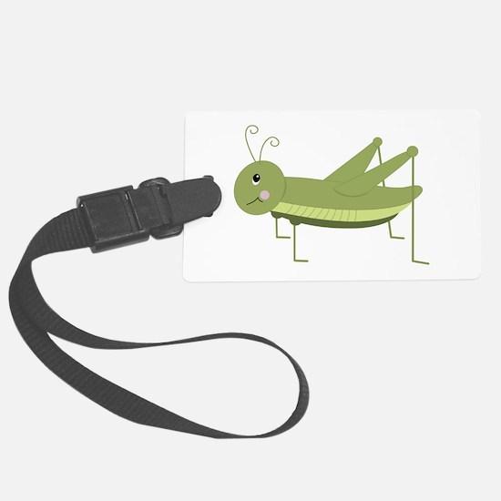 Green Grasshopper Luggage Tag