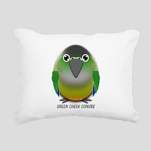 Green Cheek Conure Rectangular Canvas Pillow