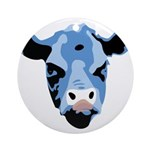 Moody Cow Ornament (Round)