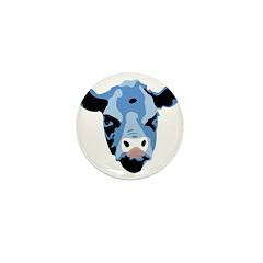 Moody Cow Mini Button