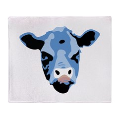 Moody Cow Throw Blanket