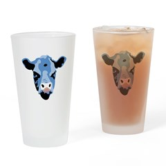 Moody Cow Drinking Glass