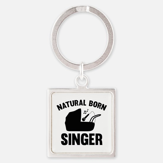 Natural Born Singer Square Keychain