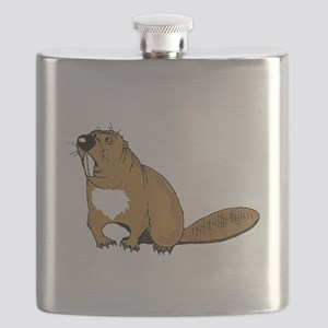 Brown Beaver Flask