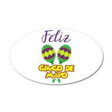 Feliz de Mayo Wall Decal