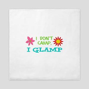 I GLAMP NOT CAMP Queen Duvet