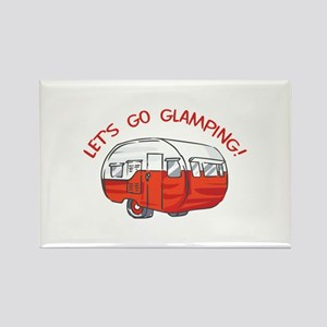 LETS GO GLAMPING Magnets