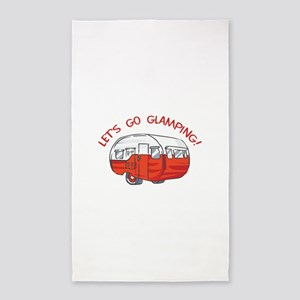 LETS GO GLAMPING Area Rug
