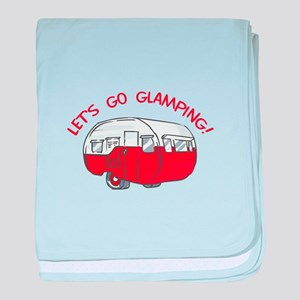 LETS GO GLAMPING baby blanket