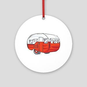 VINTAGE RED CAMPER Ornament (Round)