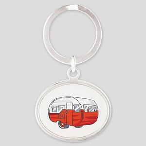 VINTAGE RED CAMPER Keychains