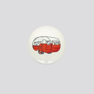 VINTAGE RED CAMPER Mini Button