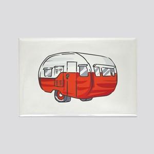 VINTAGE RED CAMPER Magnets