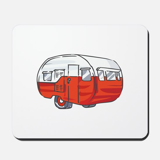 VINTAGE RED CAMPER Mousepad