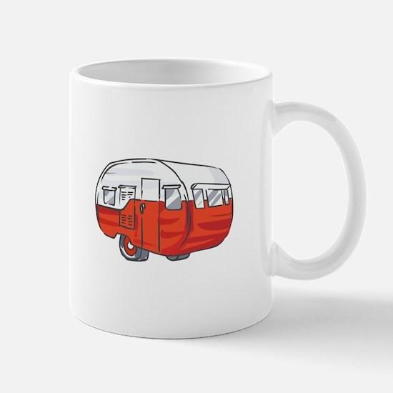 VINTAGE RED CAMPER Mugs
