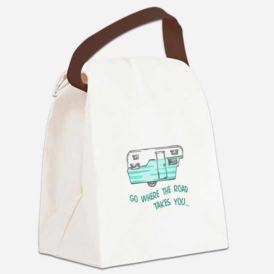 GO WHERE ROAD TAKES YOU Canvas Lunch Bag