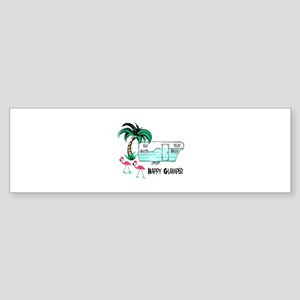 HAPPY GLAMPER Bumper Sticker