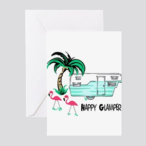HAPPY GLAMPER Greeting Cards