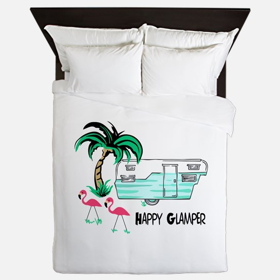 HAPPY GLAMPER Queen Duvet