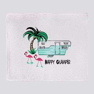 HAPPY GLAMPER Throw Blanket