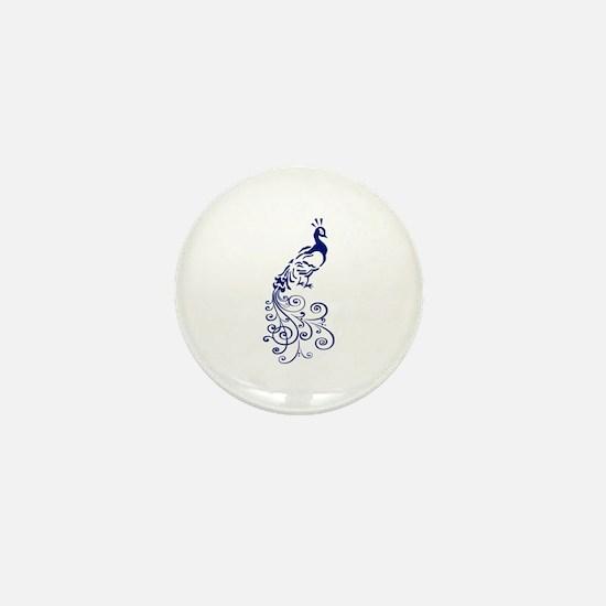 ONE COLOR PEACOCK Mini Button
