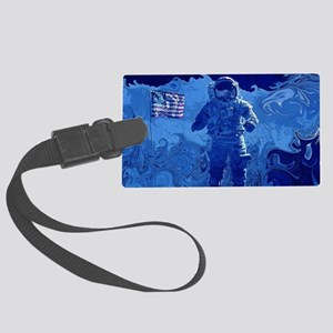 Astronaut Walking on the Moon Large Luggage Tag