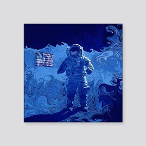 """Astronaut Walking on the Mo Square Sticker 3"""" x 3"""""""