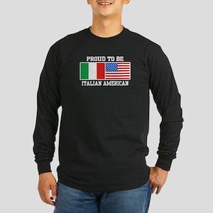 Italian American Long Sleeve Dark T-Shirt