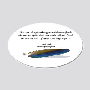 Mark Twain Parrot 20x12 Oval Wall Decal