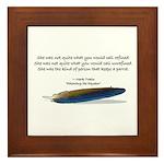 Framed Tile Mark Twain Parrot Quote -Parrot Love