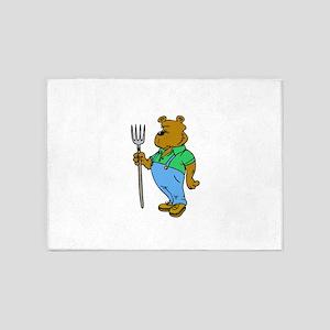 Farmer Bear 5'x7'Area Rug