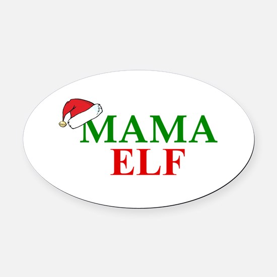 MAMA ELF Oval Car Magnet