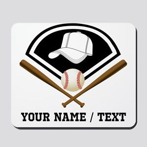 Custom Name/Text Baseball Gear Mousepad