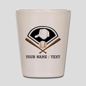 Custom Name/Text Baseball Gear Shot Glass