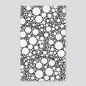 Bubbles on Black Area Rug