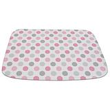 Pink and gray polka dot mat Memory Foam Bathmats