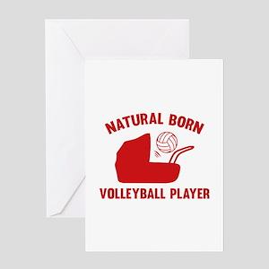 Natural Born Volleyball Player Greeting Card