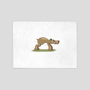 Bear Tiptoeing 5'x7'Area Rug