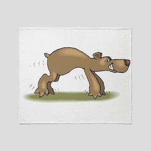 Bear Tiptoeing Throw Blanket