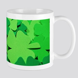 Lucky green clovers Mugs
