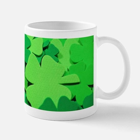 Lucky green clovers Mugs